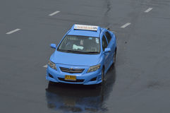 Blue toyota corolla thailand taxi Stock Photo