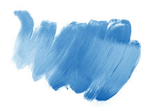 Blue trace of paint. Isolated on white Royalty Free Stock Images
