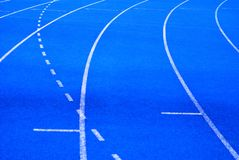 Blue Track Royalty Free Stock Photo