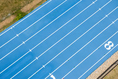Blue track from above Stock Images