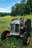 Antique Blue Tractor Stock Photography