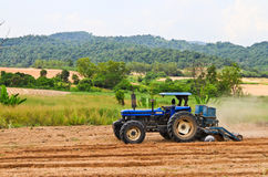 The blue tractor Royalty Free Stock Photo