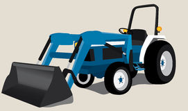 Blue Tractor  Royalty Free Stock Photography