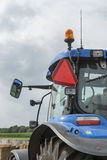 Blue tractor detail of the side Stock Photo
