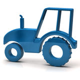 Blue tractor icon Royalty Free Stock Images