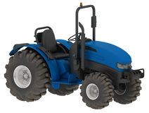 Blue tractor Stock Photos