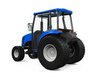 Blue Tractor Isolated Stock Photos
