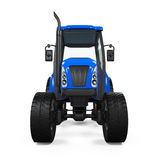 Blue Tractor Isolated Stock Photography