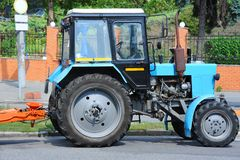 Tractor on road Stock Photos