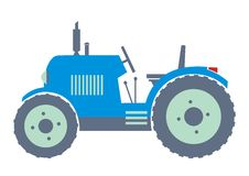 Blue tractor Royalty Free Stock Photo