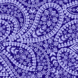 Seamless   pattern with paisley and geometric elements . Vector print. Royalty Free Stock Image
