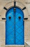 Blue Traditional door with arch from Sidi Bou Said. In Tunisia Stock Photo