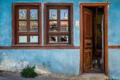 Blue Traditional Turkish House Royalty Free Stock Image