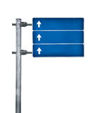 Blue traffic sign. Blank blue traffic sign on white Royalty Free Stock Photos