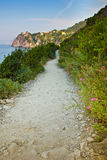 Blue trail to the Cinque Terre Stock Photography