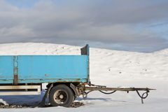 Blue trailer Stock Photography