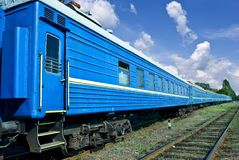 Blue train Stock Photos