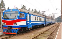 Blue train Stock Image