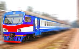 Blue train Royalty Free Stock Image