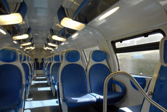 Blue train. Royalty Free Stock Photography