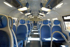 Blue train. Stock Photos