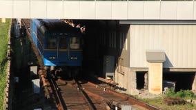 Blue train stock video