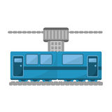 Blue train cabine vacation travel Royalty Free Stock Image