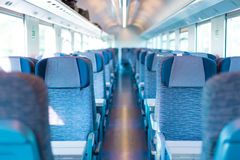 Blue train interior Stock Photography