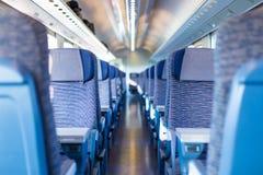 Blue train interior Stock Photography