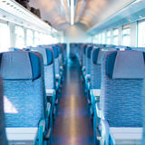 Blue train interior Stock Photos