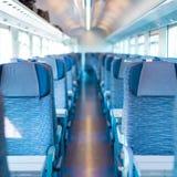Blue train interior Stock Photos