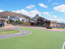The Blue Train Park in Mouille Point, City of Cape Town, South Africa. The Blue Train Park, the park is located along Beach Road in Mouille Point, City of Cape Royalty Free Stock Photography