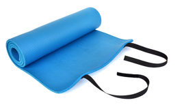 A blue training mat Royalty Free Stock Images