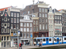 Blue tram in Amsterdam 0906 Stock Photo