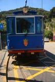 Blue tramway. Tramvia Blau Royalty Free Stock Photos