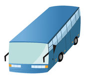 Blue transit bus Stock Image