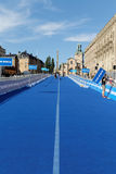 The blue transition zone, city of Stockholm in background Royalty Free Stock Photo