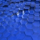 Blue Translucent Hexagons Royalty Free Stock Photo