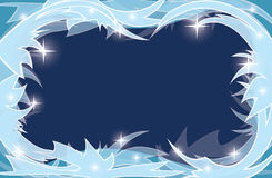Blue vector transparent background with frosty frame Royalty Free Stock Photo