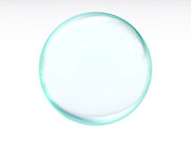 Blue transparent ball Stock Photos