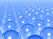 Blue transparent balls Stock Image
