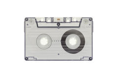 The blue transparent cassette tape Royalty Free Stock Photography