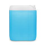 Blue transparent cleaning supply product container isolated on white Royalty Free Stock Photography