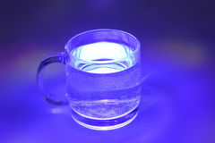 Blue transparent cup Royalty Free Stock Photo