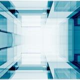 Blue transparent 3d rendering Stock Photos