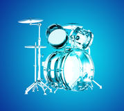 Blue transparent drums Royalty Free Stock Photo