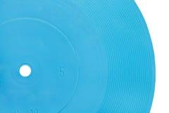Blue transparent flexible record disc Royalty Free Stock Photos