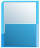 Blue transparent folder. Office folder transparent and sky blue Stock Images