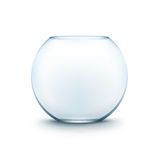 Blue Transparent Glass Smooth Fishbowl Aquarium Royalty Free Stock Photography