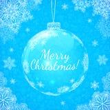 Blue transparent glass vector ball Royalty Free Stock Photos